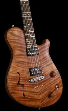 Crow Hill Guitars Cerise chambered semi-hollowbody