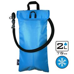Hydration Packs - Portable Cooler Bag Sleeve  for 2L Hydration Bladder  Lightweight  Water Resistant  Fits to all Backpacks  Keep Water Cool while Hiking Cycling Running  BLADDER NOT INCLUDED -- Click image for more details.
