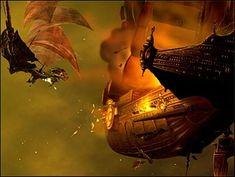 Flint´s airship flees.