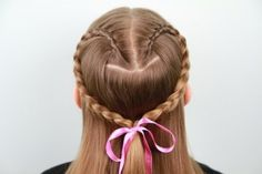 Lace Braid Heart | Valentine's Day Hairstyles | Cute Girls Hairstyles