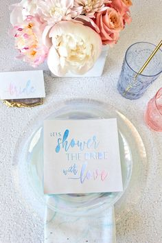 Iridescent Pastel Unicorn Bridal Shower Decor