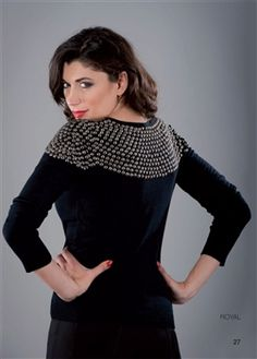 studded diego reiga luxury jumper lack or grey £80 size 8-16