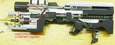 LG300 MK1 regulator and breechblock