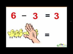 This is a video that teaches basic subtraction for little ones. x