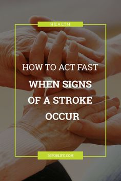 Do you know the signs of a stroke? Acting FAST when a stroke occurs can make all of the difference in your loved one's recovery. Home Health, Health Care, Act Fast, Fast Signs, Assisted Living, Caregiver, Physical Fitness, Did You Know, Recovery