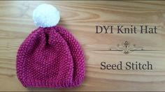 Berry Beautiful Seed Stitch Hat   A beautiful seed stitch knit hat perfect for beginners.