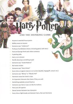 "And marathon all eight movies and play a drinking game to go along. | 27 Magical Ways To Throw The Ultimate ""Harry Potter"" Party"