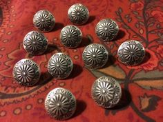 Navajo Sterling-Silver-Vintage-Buttons