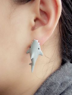 Shark Bite You earrings from Noirlu. These are freaking awesome!
