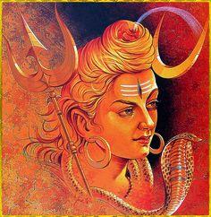 ☀ SHIVA ॐ ☀ Modern Art Prints, Shiva Shakti, Lord Siva, Art, Shiva Statue, Lord Shiva Painting, Posters Art Prints