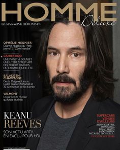 Keanu Reeves on the cover of Homme Deluxe 2017 Keanu Reeves John Wick, Keanu Reeves Life, Keanu Reeves Quotes, Keanu Charles Reeves, Zone Interdite, Out Magazine, Magazine Covers, Keanu Reaves, Film D'action