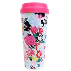 This stylin' thermal mug from ban.do is designed to keep your hot stuff hot!  Whether it's coffee or tea, you'll look super cute with this cup in hand!    Plastic lid w/ open and close slider  Insulated  Acrylic  16 oz.