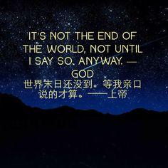 God's Ad Christian Church, End Of The World, Christianity, Prayers, Bible, Wisdom, Faith, Activities, Humor