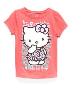 Look what I found on #zulily! Paradise Pink Hello Kitty Tee - Girls #zulilyfinds