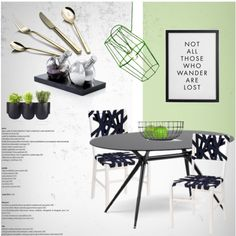Dining Room by lovethesign-eu on Polyvore featuring polyvore interior interiors interior design home home decor interior decorating Pavilion Broadway dining room Home homedecor dining homeset