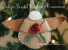 Baby's 1st Christmas: DIY Felt Ornament - Do Small Things with Love