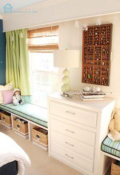 Remodelando la Casa: Teen Girl Room Reveal - simple window seat