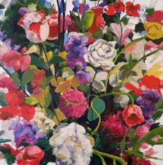For Sale on - Vase Garden, Painting, Oil on Canvas, Oil Paint by Jenn Hallgren. Offered by Zatista. Garden Painting, Oil Painting On Canvas, Canvas Art, Paintings I Love, Original Paintings, Original Art, Balance Art, Painted Vases, Henri Matisse