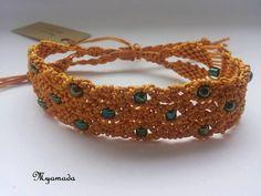 25% discount topaz with green sead beads micro por Myamadasv
