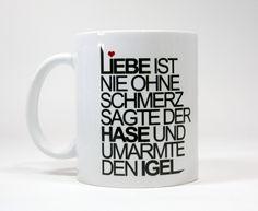 CupCup | Typo Tasse | liebe von claus-peter-2 via dawanda.com