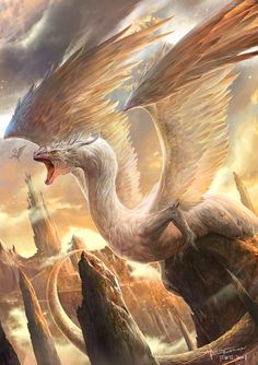 *MYTHICAL ~ Dragon bird by TheRafa on deviantART