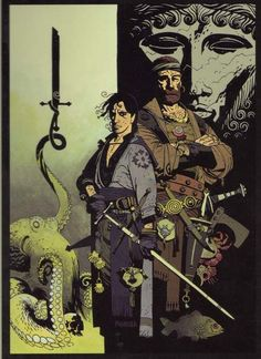 Fafhrd and the Gray Mouser. Art by Mike Mignola.