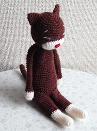 Pattern is in Japanese, but diagrams are helpful! Crochet pattern cat amigurumi