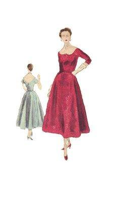 Vintage Vogue 1950s Sewing Pattern Flared by AdeleBeeAnnPatterns, $14.00