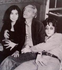 Yoko Ono, Andy Warhol & John Lennon