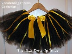 5080fb95b6f5b Adorable- would be hit for Pburgh babies Gold Tutu