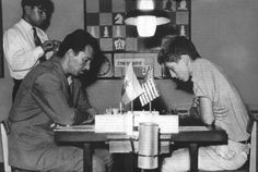 1958 Svetozar Gligoric vs Bobby Fischer at the Portoroz Interzonals Art Through The Ages, Chess Players, Chess Pieces, New York Times, Bobby, Shit Happens, History, Games, Google