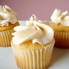 Vanilla Cupcakes with Vanilla Buttercream Frosting, made these today. Soooo yummy.