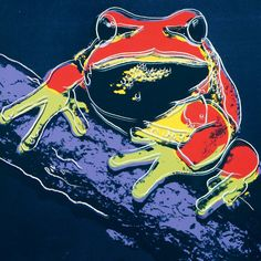 Andy Warhol, Endangered Spieces, Pine Barrens Tree Frog, 1983