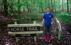 Sarah with one of the new trail signs she added to improve the horse trails at Northwest River Park. Girl Scout Ambassador Sarah from. Horseback Riding Trails, Trail Riding, Girl Scout Gold Award, Equestrian Shop, Horse Camp, River Park, Change The World, Girl Scouts, North West