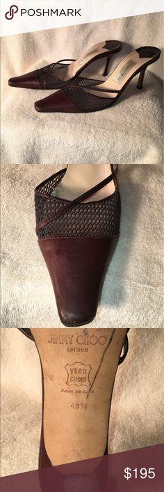 Jimmy Choo Brown leather 3 inch heels Jimmy Choo Brown leather 3 inch heels in Beautiful condition Jimmy Choo Shoes Heels