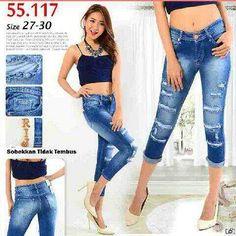 """""Ripped jeans RIJ 55117 Material: soft jeans Harga: 130 Size: 27-30 Order PIN CS1-5A1F32FA PIN CS2-5FI5DE72 & SMS/WA 087722-575-101  Reseller & Dropship Welcome!  Happy Shopping! :) #jamtangan #jamtanganwanita #jammurah #grosirjam #sweatercouple #flatshoes #jamtanganterbaru #resellerjamtangan #taswanita #sneakerscwe #celanajeansripped #jamtanganartis #olshop #wedgesterbaru #jaketjeans  #resellerwelcome #celanajeans #sepatubandung #overall Ripped Jeans, Skinny Jeans, Jaket Jeans, Happy Shopping, Overalls, Instagram Posts, Sweaters, Pants, Fashion"