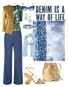 """""""Denim Every Way"""" by kelly-haven-russell ❤ liked on Polyvore featuring Marc Jacobs, Tory Burch, BaubleBar, Marco Bicego, Prada, Rena Lange, Italia Independent, Denis Colomb and J.Crew"""