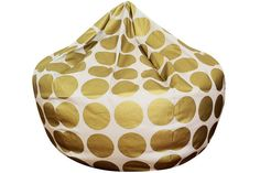 Metallic Gold Bean Bag Chair by ChoosyShop on Etsy