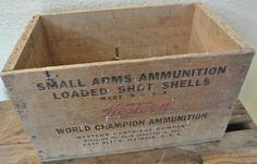 Vintage Ammo Crate, Western Shot Shells Crate, Wooden Crate, Rustic Wooden Box by DomesticTitanVintage on Etsy