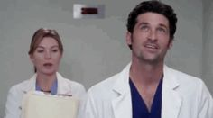 The chemistry between Meredith and Derek was electric right from the start… | 19 Derek Shepherd Moments That Will Now Break Your Heart  | Grey's Anatomy