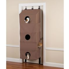 The Over The Door Cat Condo - Hammacher Schlemmer