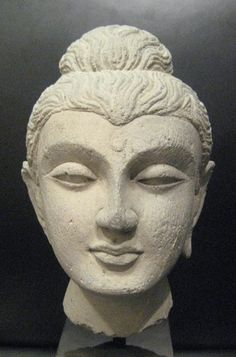 Gandharan Stone Buddha Head - OF.270 Origin: Central Asia Circa: 100 AD to 400 AD