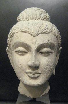 Gandharan Stone Buddha Head - OF.270 Origin: Central Asia Circa: 100 AD to 400 AD