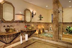 My favorite bathroom of all the resorts I've been to soar; Zoetry Paraiso la Bonita