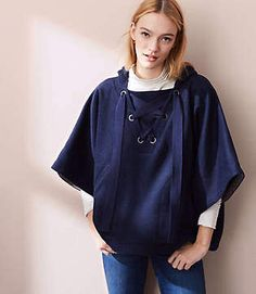 89f5123b4963 Lou & Grey Lace Up Hoodie Coat Gray Jacket, Windbreaker, Active Wear,  Raincoat