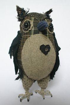 Pecksniff, textile owl - Ann Wood Handmade