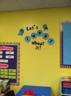 Life in First Grade: Classroom decorating: Day Four  Writing center wall