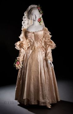 Wedding dress ca. 1838  From the Helen Larson Historic Fashion Collection via the FIDM Museum