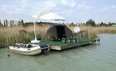 Check out this floating carp fishing shangrala. I think the satellite dish is a nice touch.   For more cool carpfishing pics check out our facebook page at https://www.facebook.com/CatsandCarp and our website at www.catsandcarp.com
