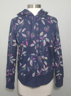 Covington Petite Blue Botanical Print Full Zip Hooded Jacket Hoodie Women's Sz M   Clothing, Shoes & Accessories, Women's Clothing, Sweats & Hoodies   eBay! #hoodie